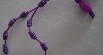 Set de abalorios de Hello Kitty (VI): pulseras con abalorios de color violeta