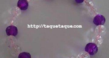 Set de abalorios de Hello Kitty (V): pulseras con abalorios de color lila