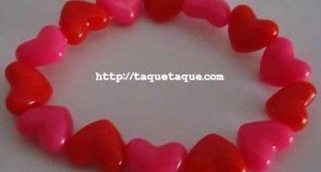 Set de abalorios de Hello Kitty (I): pulseras rojas