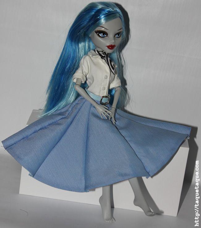 """Ghoulia Yelps con la ropa de plebeya de mi Pullip Princess Ann (Vacaciones en Roma). Ahora se llama """"Celeste"""""""