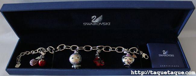 Pulsera de Swarovski con charms kawaii
