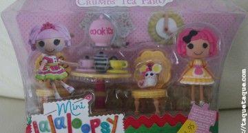 Regalazos de santo (IV): Crumbs' tea party playset (mini Lalaloopsy Crumbs Sugar Cookie + mascota incluidas)