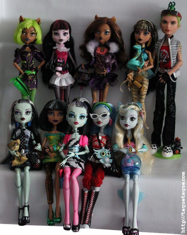La primera y la segunda colección de Monster High en salir a la venta en España
