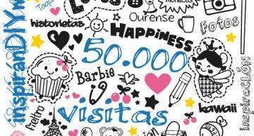 inspiránDIYme ya ha recibido más de 50.000 visitas. ¡¡¡MUCHÍSIMAS GRACIAS!!!