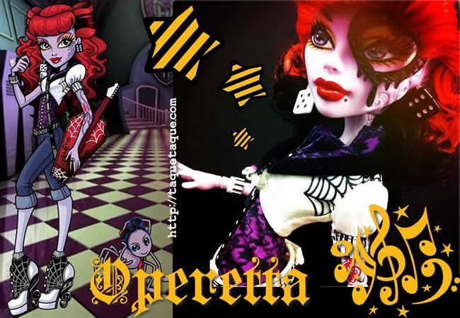 """Operetta, otro personaje de los libros """"Monster High"""" que ya se ha convertido en muñeca"""