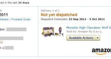 Chin-cha ra-bin-cha, tú no tie-nes u-na!!! Esperando por mis últimas compras (Monster High) en Amazon.co.uk :D