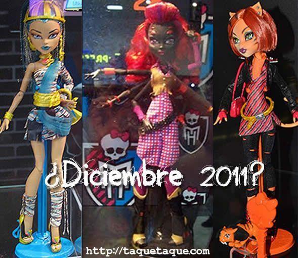 Monster High - nuevas muñecas para diciembre de 2011: Nefera de Nile, Arachne y Torelei Stripes