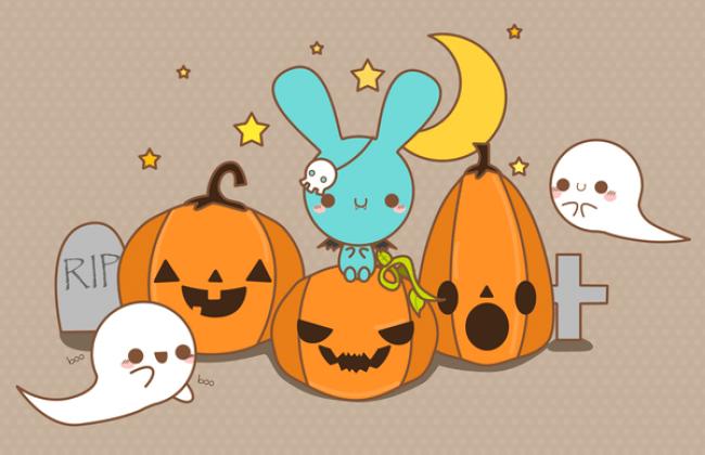 (c) PronouncedYou: Calabazas kawaii de Halloween