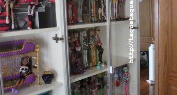 Mi colección Monster High de un vistazo (en sus vitrinas)