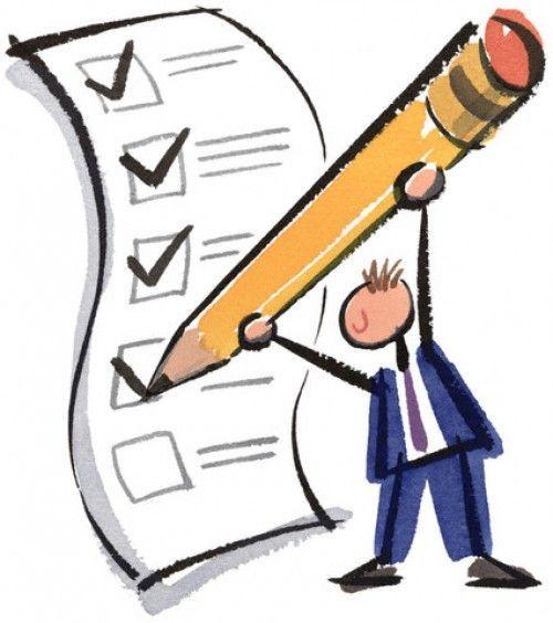 Big Checklist --- Image by © Images.com/CORBIS