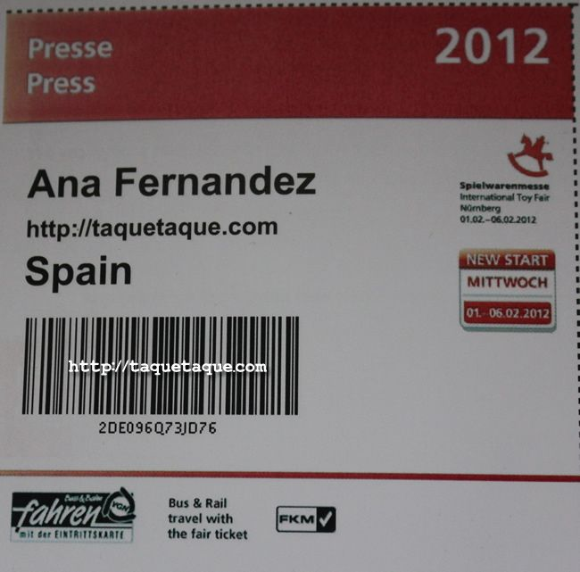 mi acreditacion Spielwarenmesse 2012