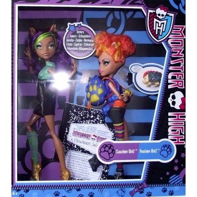 Monster High - Pack de hermanas Wolf: Howleen (con su diario y su mascota) y Clawdeen