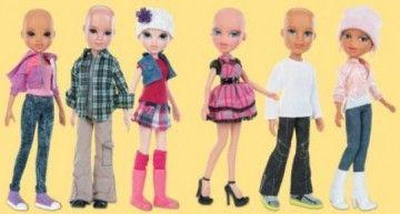 En junio Toys R Us venderá Bratz y Moxie Gilz calvas contra el cáncer infantil, y en Facebook se pide a Mattel una Barbie calva.