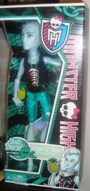 Monster High - Gil Webber, de la colección Skull Shores (Isla Calavera), que no acaba de llegar a España