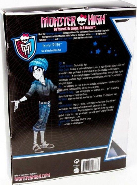 Monster High Invisi Billy Phaidin - caja 2