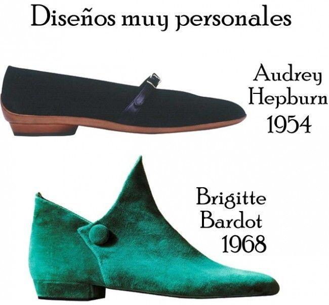 Salvatore Ferragamo - Zapatos diseñados especialmente para Audrey Hepburn y Brigitte Bardot