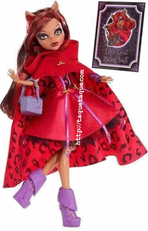 Monster High Fairy Tales - Clawdeen como Little Dead Riding Wolf - Caperucita Roja