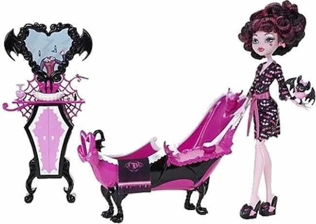 Monster High - Set de Bañera y Lavamanos para Draculaura
