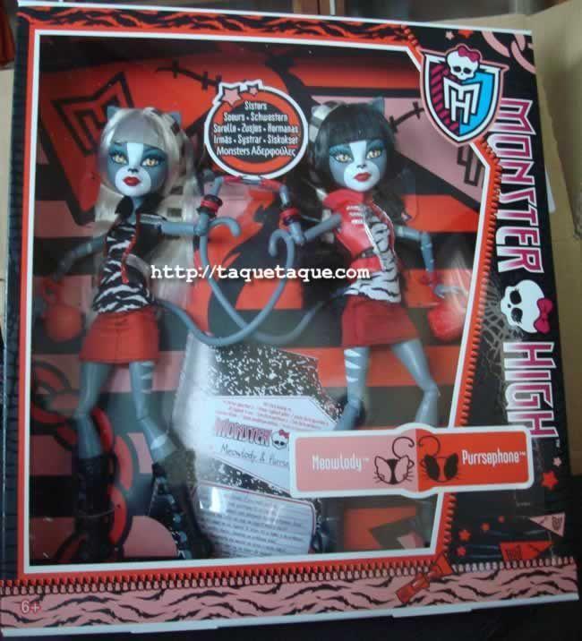 mi colección Monster High: Purrsephone y Meowlody, las gatas gemelas