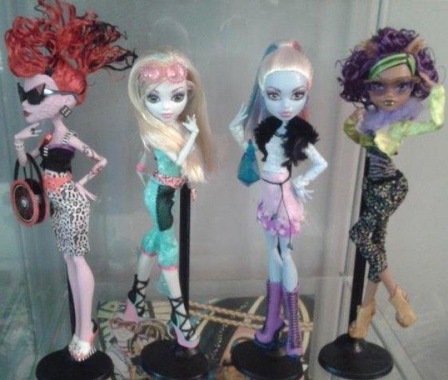 Monster High: los 4 nuevos packs de ropa para Operetta, Lagoona, Abbey y Clawdeen. Fuente: Internet
