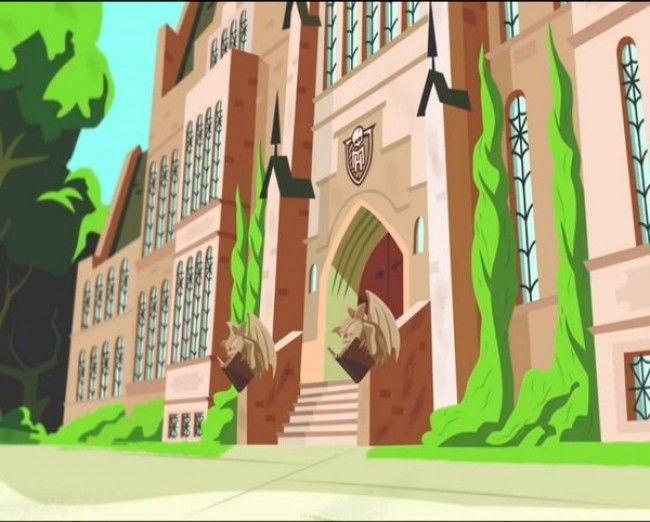 Monster High - Fachada principal del Instituto
