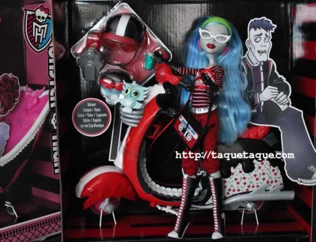 Monster High - Bañera Draculaura Scooter Ghoulia y bañera Draculaura