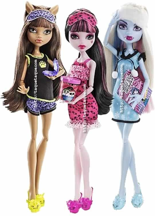 Monster High - Dead Tired Wave 2: Clawdeen Wolf, Draculaura y Abbey Bominable