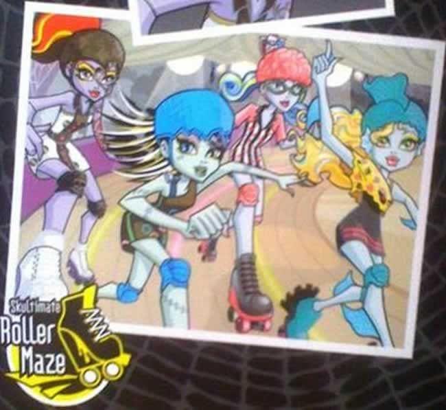 Monster High - Roller Maze Back Box