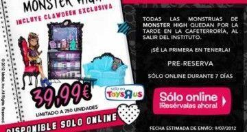 La Cafeterroría de Monster High a 39,99€ en Toys 'R Us