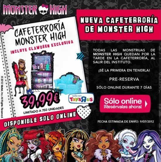 La Cafeterroría de Monster High ya en precompra en la web de Toys 'R Us España