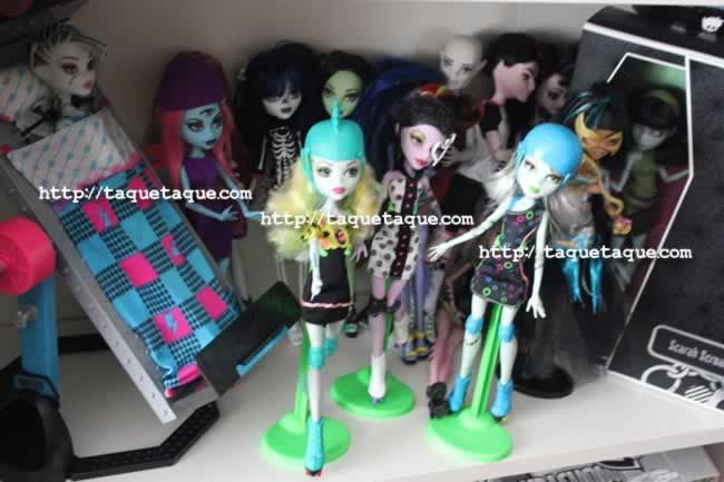 Algunas de mis Roller Maze (Abbey y Ghoulia no salen en esta foto), mis Create-A-Monster y Scarah Screams + Hoodude Voodoo