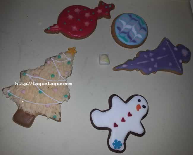Estas son las galletas que hice el domingo en el curso de galletas decoradas con glasa