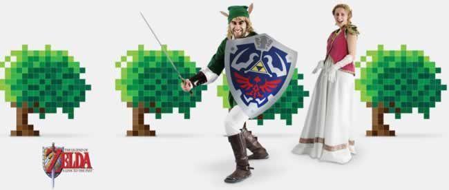 """Anuncio de esta empresa 100% gallega (¡¡¡ergo españolaaaaa!!!), en el que usan """"La leyenda de Zelda"""" y trabajadores de la empresa como modelos)"""