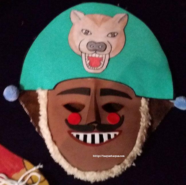 Reproducción DIY (by Isabel) en goma eva de una máscara típica del Entroido ourensano