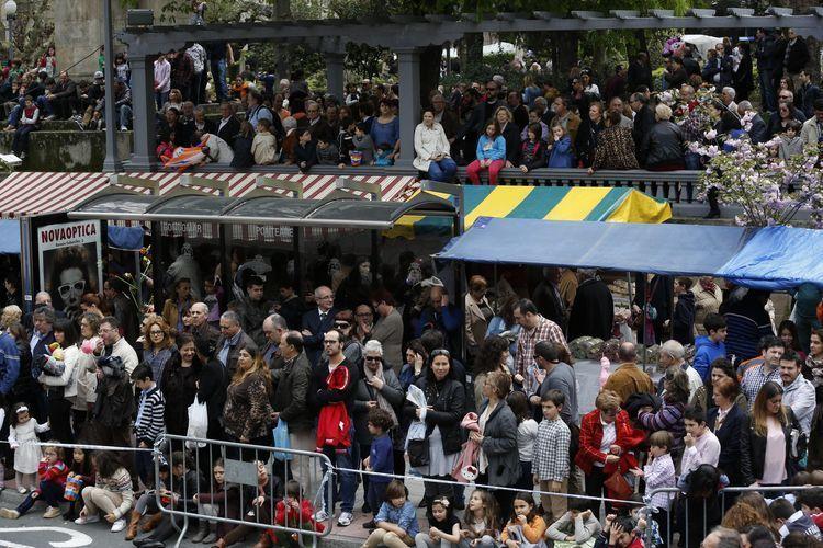 Ourense, 6 de abril de 2014 - Quema de las madamitas (Parque de San Lázaro)